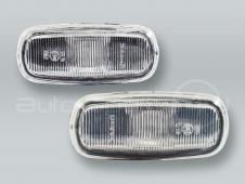 White Fender Side Marker Turn Signal Lights PAIR fits 1999-2001 AUDI A4