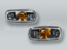 TYC Clear Fender Side Marker Turn Signal Lights PAIR fits 1999-2001 AUDI A4