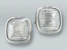 Clear Fender Side Marker Turn Signal Lights PAIR fits 1996-1998 AUDI A4
