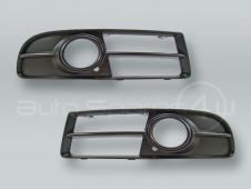 Front Bumper Fog Light Grille PAIR fits 2006-2008 AUDI A4