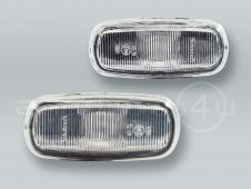 White Fender Side Marker Turn Signal Lights PAIR fits 1998-2001 AUDI A6
