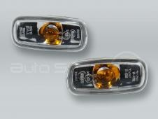 TYC Clear Fender Side Marker Turn Signal Lights PAIR fits 1998-2001 AUDI A6