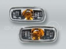 TYC Clear Fender Side Marker Turn Signal Lights PAIR fits 2000-2003 AUDI A8