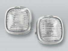 Clear Fender Side Marker Turn Signal Lights PAIR fits 1997-1999 AUDI A8