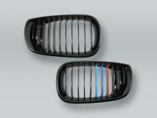 Black M-Color Front Hood Grille PAIR fits 2002-2005 BMW 3-Series E46 4-DOOR