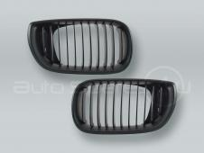 Black Front Hood Grille PAIR fits 2002-2005 BMW 3-Series E46 4-DOOR