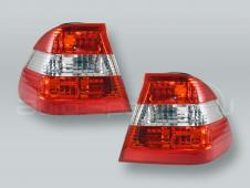 Red/White SEDAN Outer Tail Lights Rear Lamps PAIR fits 2002-2005 BMW 3-Series E46