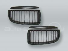 Black Front Grille with Trim PAIR fits 2006-2008 BMW 3-Series E90 E91