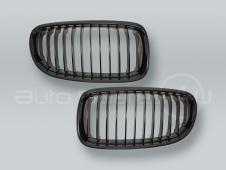 Black Front Grille PAIR fits 2009-2011 BMW 3-Series E90 E91