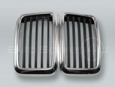 Chrome/Black Front Center Grille fits 1982-1988 BMW 5-Series E28