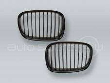 Black Front Hood Grille PAIR fits 1996-2000 BMW 5-Series E39