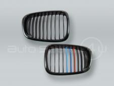 Black M-Color Front Hood Grille PAIR fits 2001-2003 BMW 5-Series E39