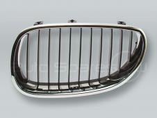 Chrome/Black Front Grille LEFT fits 2004-2009 BMW 5-Series E60 E61