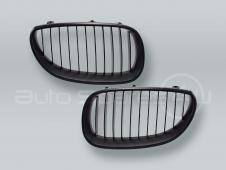 Black Front Grille PAIR fits 2004-2009 BMW 5-Series E60 E61