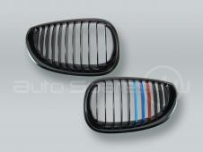 Black M-Color Front Grille PAIR fits 2004-2009 BMW 5-Series E60 E61