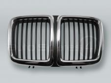 Chrome/Black Front Center Grille fits 1988-1994 BMW 7-Series E32