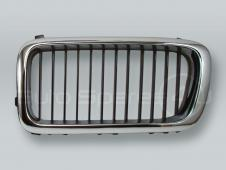 Chrome/Black Front Hood Grille LEFT fits 1995-1998 BMW 7-Series E38