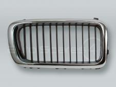 Chrome/Black Front Hood Grille RIGHT fits 1995-1998 BMW 7-Series E38