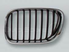 Chrome/Black Front Hood Grille LEFT fits 2000-2003 BMW X5 E53