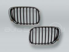 Chrome/Black Front Hood Grille PAIR fits 2000-2003 BMW X5 E53