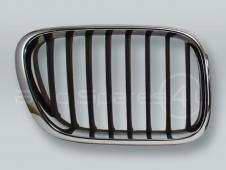 Chrome/Black Front Hood Grille RIGHT fits 2000-2003 BMW X5 E53