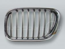 Chrome/Titan Front Hood Grille LEFT fits 2000-2003 BMW X5 E53