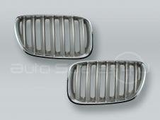 Chrome/Titan Front Hood Grille PAIR fits 2005-2006 BMW X5 E53