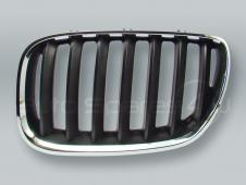 Chrome/Black Front Hood Grille LEFT fits 2005-2006 BMW X5 E53