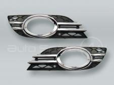Fog Light Grille and Chrome Trim PAIR fits 2007-2009 MB E-class W211