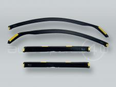 HEKO WAGON Wind Deflectors Rain Guards 4pcs Set fits 2004-2009 BMW 5-Series E61