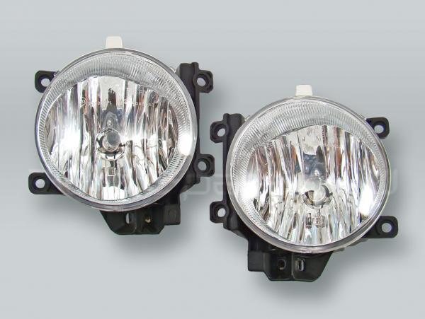 Fog Lights Driving Lamps Assy with bulbs PAIR fits 2013-2015 TOYOTA Land Cruiser RAV4