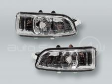 Door Mirror Turn Signal Lamps Lights PAIR fits 2008-2013 VOLVO C30 C70