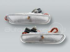 DEPO Front White Bumper Turn Signal Lights Side Markers PAIR fits 1996-2000 VOLVO S40 V40