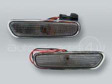 DEPO Front Smoke Bumper Turn Signal Lights Side Markers PAIR fits 1996-2000 VOLVO S40 V40