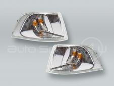 TYC Chrome Corner Lights Parking Lamps PAIR fits 2001-2004 VOLVO S40 V40