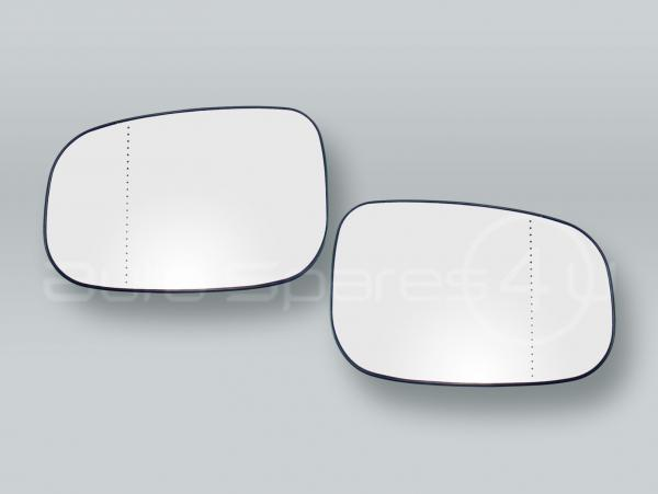 Heated Door Mirror Glass and Backing Plate PAIR fits 2007-2011 VOLVO S40 V50