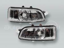 Door Mirror Turn Signal Lamps Lights PAIR fits 2007-2011 VOLVO S40 V50