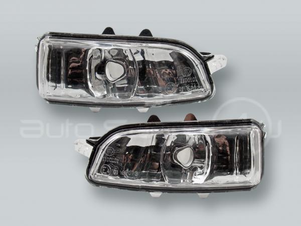 Door Mirror Turn Signal Lamps Lights PAIR fits 2007-2011 VOLVO S40 V50